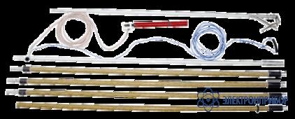 Заземление переносное для раздельного заземления проводов каждой фазы на воздушных линиях 1150кв ПЗ-1150Н  (сеч. 25мм2)