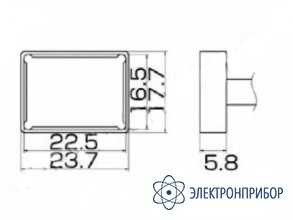 Паяльная сменная композитная головка для станций fx-950/ fx-951/fx-952/fm-203 T12-1206