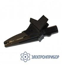 Зажим «крокодил» изолированный черный K01