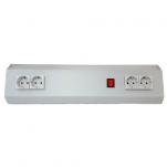 Электроблок С6-600-6 розеток, выключатель